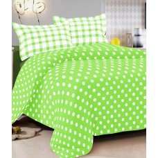 Deals, Discounts & Offers on Home Decor & Festive Needs - RR Textile House Green Cotton Double Bedsheet With 2 Pillow Cover