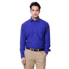 Deals, Discounts & Offers on Men Clothing - Mall4all Blue Full Sleeves Solid Shirt