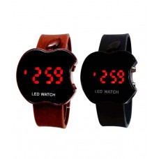 Deals, Discounts & Offers on Baby & Kids - Sams Black And Brown Casual Watch - Set Of 2