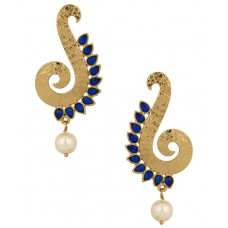 Deals, Discounts & Offers on Women - Voylla Gold Plated Spiral Curve Earrings