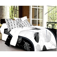 Deals, Discounts & Offers on Home Decor & Festive Needs - Cenizas Cotton Abstract Double Bedsheet