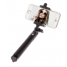 Deals, Discounts & Offers on Mobile Accessories - Xtra Selfie Stick Premium with Built-in Bluetooth Remote Button on the Handle for Smart Clicks Apple & Android Devices