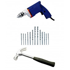 Deals, Discounts & Offers on Home & Kitchen - Drill Machine with Rubber Grip Hammer