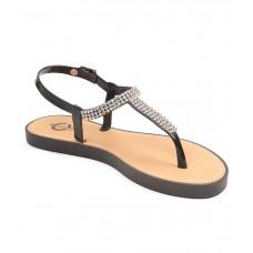 Deals, Discounts & Offers on Foot Wear - Carlton London Black Flat Slip-on