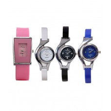 Deals, Discounts & Offers on Women - SVM Pack of 4 Multicolor Casual Watches