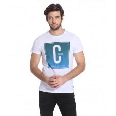 Deals, Discounts & Offers on Men Clothing - Jack & Jones White Half Sleeves T-Shirt