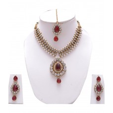 Deals, Discounts & Offers on Earings and Necklace - Manukunj Austrian Diamond Necklace Set