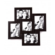 Deals, Discounts & Offers on Home Decor & Festive Needs - Wens Brown MDF 5 Pictures Photo Frame