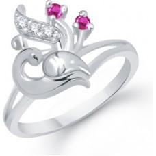 Deals, Discounts & Offers on Women - VK Jewels Alloy Cubic Zirconia Rhodium Ring