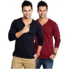 Deals, Discounts & Offers on Men Clothing - Rodid Solid Men's V-neck T-Shirt