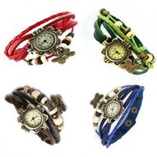 Deals, Discounts & Offers on Accessories - Pack Of 4 Wrist Watch For Women