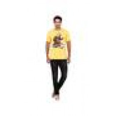 Deals, Discounts & Offers on Men Clothing - Wrangler Yellow Regular Fit TShirt