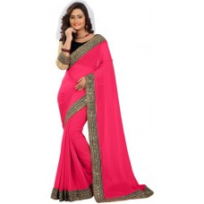 Deals, Discounts & Offers on Women Clothing - Chirag Sarees Embellished Fashion Georgette Sari