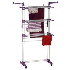Deals, Discounts & Offers on Women Clothing - Bonita Maximo Multi Function Clothes Drying Stand In Purple