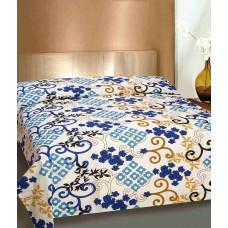 Deals, Discounts & Offers on Home Decor & Festive Needs - Curl Up Multicolour Cotton Single Bedsheet