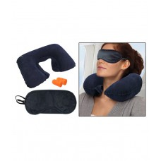 Deals, Discounts & Offers on Car & Bike Accessories - Jaatara Travel - Combo Of Neck Pillow, Eye Mask And Ear Plugs
