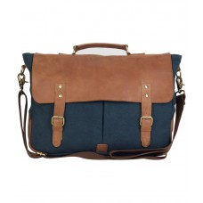Deals, Discounts & Offers on Accessories - The House Of Tara Brown & Blue Messenger Bag