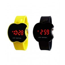 Deals, Discounts & Offers on Baby & Kids - Sams Black And Yellow Casual Watch - Set Of 2