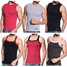 Deals, Discounts & Offers on Men Clothing - TSG Escape Pack Of 6 Plain Cotton Vest TSGCMB6Vest