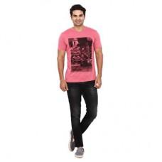 Deals, Discounts & Offers on Men Clothing - Wrangler Dusty Rose Regular Fit TShirt