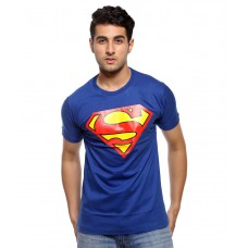 Deals, Discounts & Offers on Men Clothing - Attitude Blue Cotton T Shirt