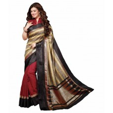 Deals, Discounts & Offers on Women Clothing - Dressy Multi Color Bhagalpuri Silk Saree