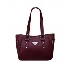 Deals, Discounts & Offers on Women - Fostelo Maroon P.U. Zip Shoulder Bag