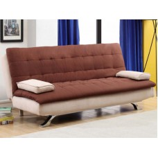 Deals, Discounts & Offers on Home Appliances - Fabric Cosy Supersoft Brown And Creame Sofa Cum Bed By Furny
