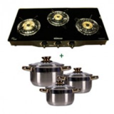 Deals, Discounts & Offers on Home Appliances - sunflame 3 burner + pococina