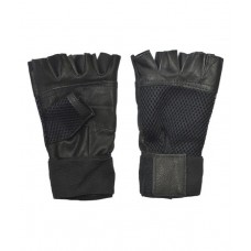 Deals, Discounts & Offers on Sports - Apg Black Leather Gym Gloves