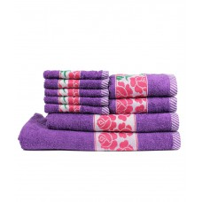 Deals, Discounts & Offers on Home Appliances - Flat 61% off on Trident Set of 9 Cotton Bath Towel