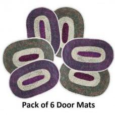 Deals, Discounts & Offers on Home Decor & Festive Needs - Door Mats-Set Of 6 offer