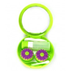 Deals, Discounts & Offers on Accessories - Arcadio Purple Blooms Plastic Hard Case for Contact Lenses