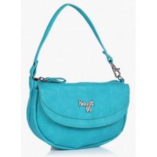 Deals, Discounts & Offers on Women - Lmp Crackle Forestdew Aqua Blue Handbag