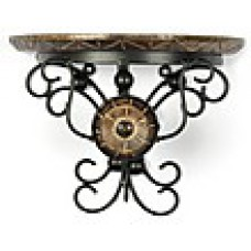 Deals, Discounts & Offers on Home Decor & Festive Needs - Onlineshoppee Wooden And Wrought Iron Hand Carved Big Wall Bracket