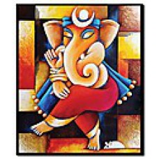 Deals, Discounts & Offers on Home Decor & Festive Needs - Stybuzz Canvas Modern Ganesha Art Painting Without Frame