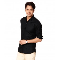 Deals, Discounts & Offers on Men Clothing - Flat 52% off on 9h Black Casual Shirt