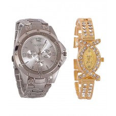 Deals, Discounts & Offers on Men - Buy 1 Get 1 off on Rosra Silver Round Analog Watch