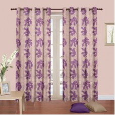 Deals, Discounts & Offers on Home Decor & Festive Needs - Cortina Polyester Multicolor Floral Eyelet Door Curtain