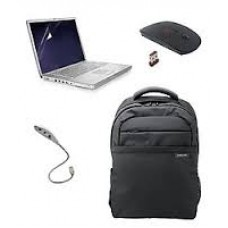 Deals, Discounts & Offers on Computers & Peripherals - Acer Black Laptop Backpack With Wireless Mouse, USB LED Light, Screen Guard For 15.6 Inch Screen