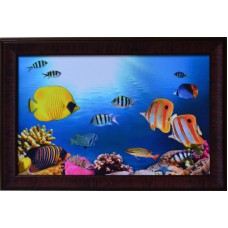 Deals, Discounts & Offers on Home Decor & Festive Needs - eCraftIndia 3d Sea Life View Design Satin Matt Texture Canvas Painting