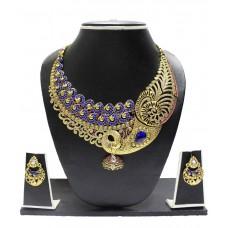 Deals, Discounts & Offers on Women - Zaveri Pearls Beautiful Peacock Necklace Set