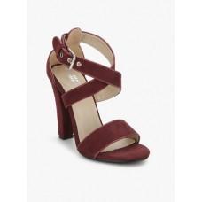 Deals, Discounts & Offers on Foot Wear - Miss Bennett London Maroon Stilettos