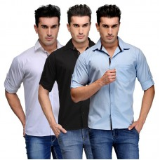 Deals, Discounts & Offers on Men Clothing - Tsx Mens Set Of 3 Multicolor Cotton Shirt - Tsx-shirt
