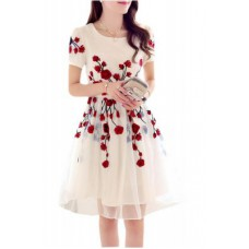 Deals, Discounts & Offers on Women Clothing - Flat 70% off on Kia Fashions White Rose Designer Dress