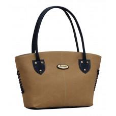 Deals, Discounts & Offers on Accessories - Fostelo Beige P.U. Zip Shoulder Bag