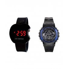 Deals, Discounts & Offers on Baby & Kids - Sams Combo of Black Apple Led Touch Screen and Sports Watch