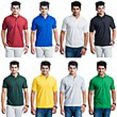 Deals, Discounts & Offers on Men Clothing - Eprilla Combo Of 8 Men Polo T-Shirts