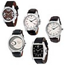 Deals, Discounts & Offers on Accessories - Gesture Combo Of 5 Analog Men Watches B02