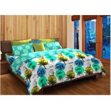 Deals, Discounts & Offers on Home Decor & Festive Needs - Home Expression USA Cotton Printed Double Bedsheet